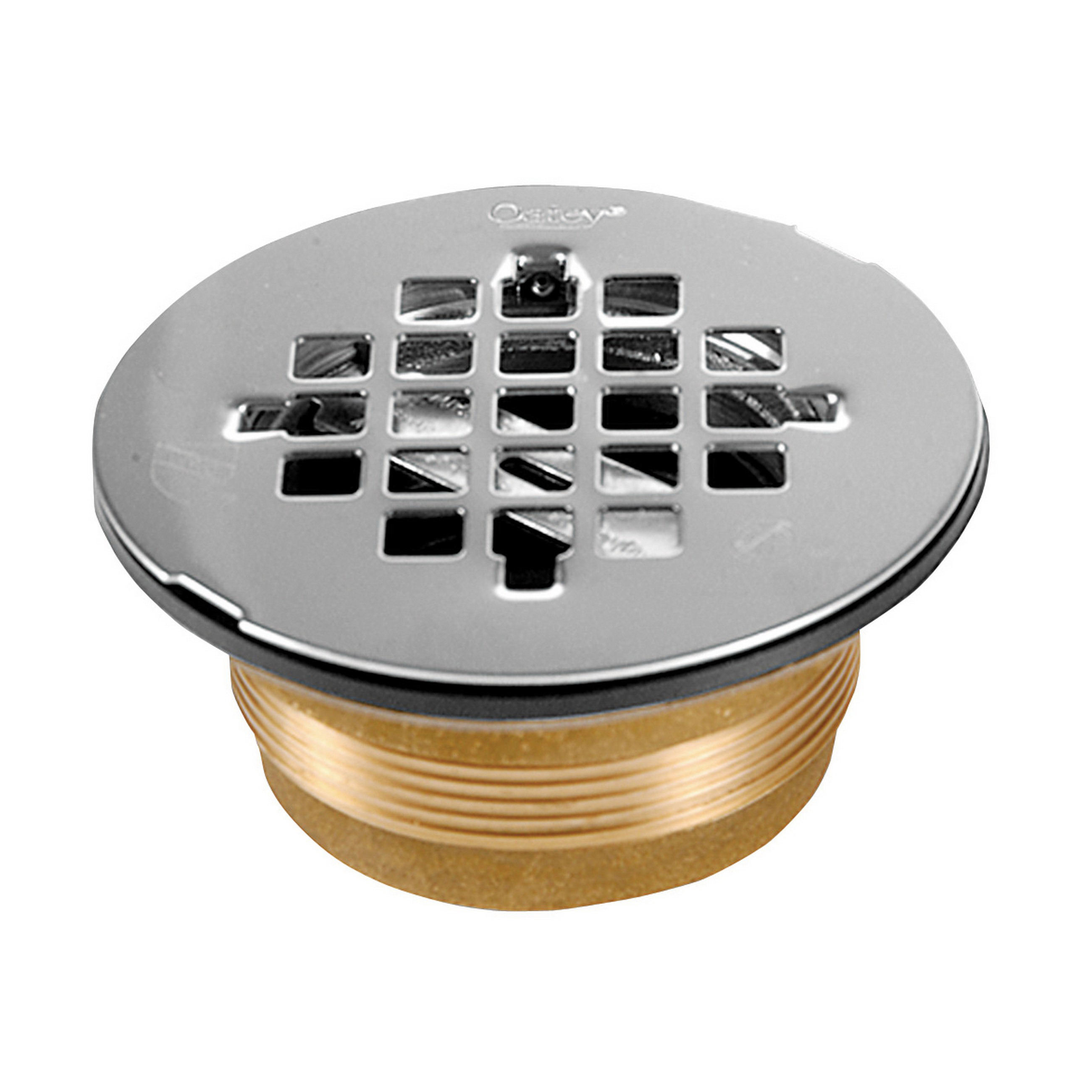 Oatey® 42150 140 No Caulk Shower Drain With Stainless Steel Strainer, 2 in, 4-1/4 in Stainless Steel Grid, Cast Brass Drain, Import