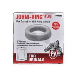 Hercules® 90260 Johni-Ring® Plus Wax Gasket, For Use With 2 in Waste Lines and Wall-Hung Urinals, Tan