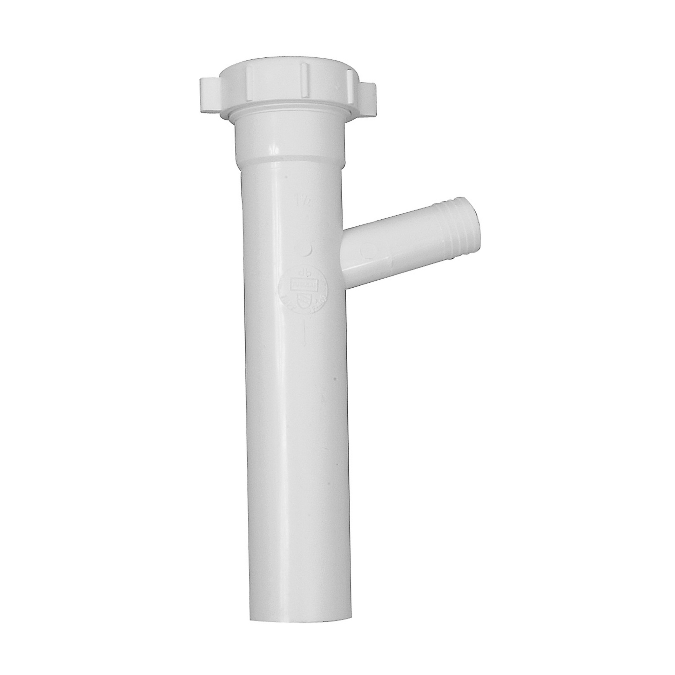 Dearborn® PP9817 Tubular Branch Tailpiece, 1-1/2 in, 8 in L, Slip Joint Connection, Polypropylene Plastic, Domestic