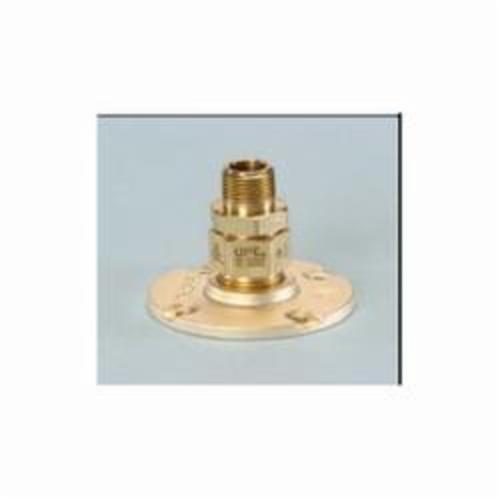 TracPipe® Counterstrike® AutoFlare® FGP-BFF-750 Flange Fitting, 3/4 in, MNPT x TracPipe® PS-II/CounterStrike®, Yellow Brass, Domestic