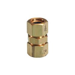 TracPipe® Counterstrike® AutoFlare® FGP-CPLG-750 Coupling, 3/4 in, AutoFlare x TracPipe® PS-II/CounterStrike®, Yellow Brass