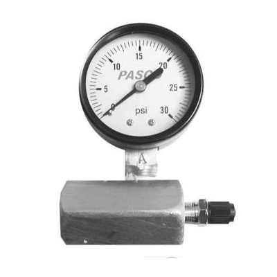 PASCO 1427 Air Test Gauge Assembly, 0 to 30 psi, 3/4 in FNPT Connection, 2 in Dial