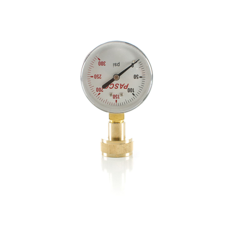 "PASCO 1430 2-1/2"" 300# WATER TEST GAUGE 3/4"" FHT (J66-300)"