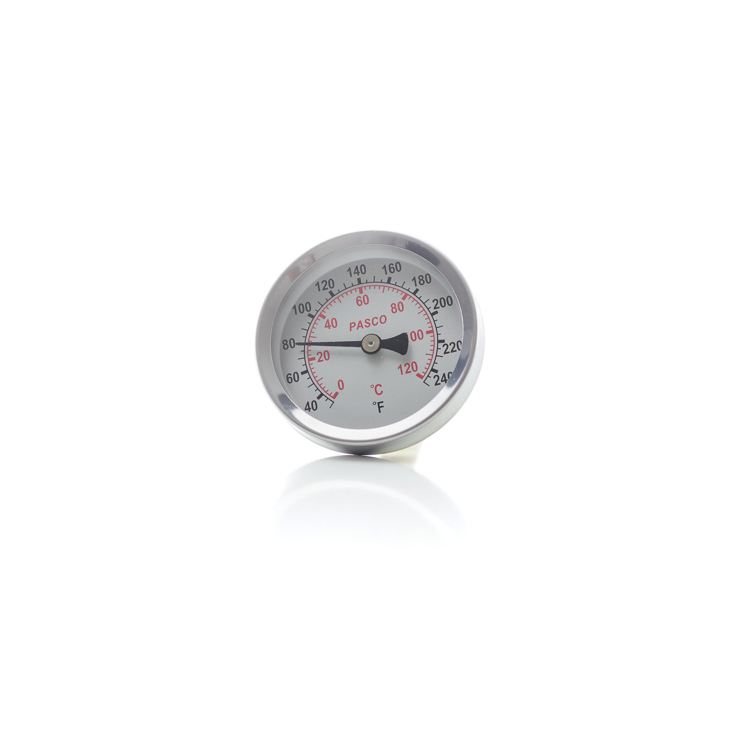 """PASCO 1449 2-1/2"""" MALE BRS DIAL THERMOMETER 40-250F DEGREES BACK MOUNT 1/2"""" MIP (J40703)"""