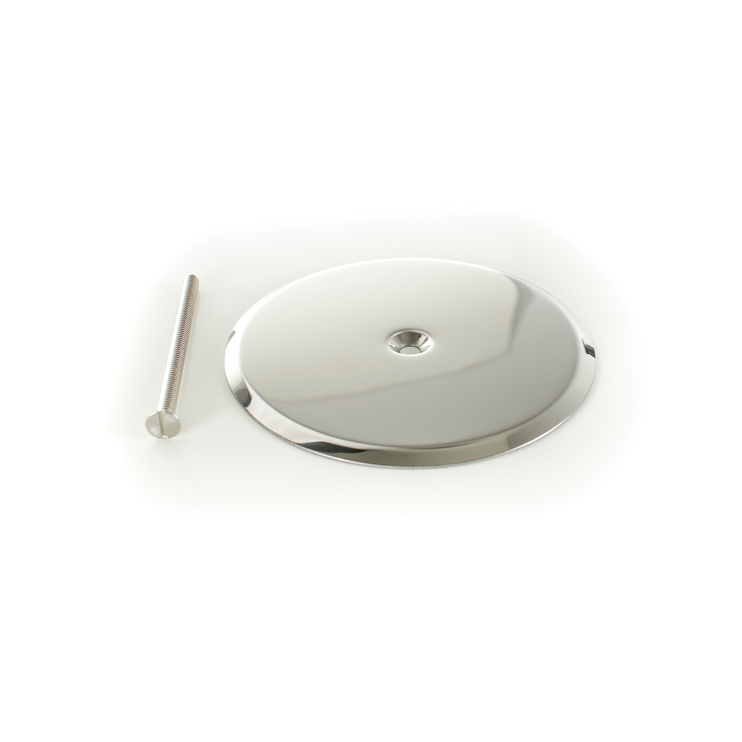 PASCO 1842 Cleanout Cover Plate With 1/4-20 x 4 in Bolt, 5 in Cover, 22 ga Stainless Steel