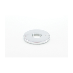 PASCO Sure Grip 2813 Economy Floor and Ceiling Plate Without Springs, 1 in IPS Thread, Steel, Chrome Plated