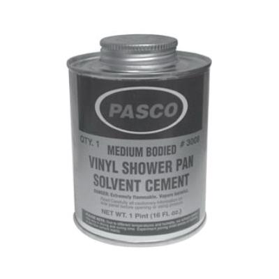 PASCO 3008 Vinyl Shower Pan Liner Solvent Cement, 1 Pt