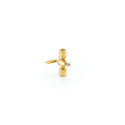 PASCO 7907 Spring Bottom Shut-Off Valve, 1/4 in, FNPT, Forged Brass Body