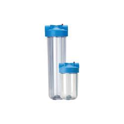 Pentek 166219 Big Clear Filter Housing With Pressure Relief, 4-1/2 in Dia x 10 in H, 1 in FNPT Port, 40 to 100 deg F