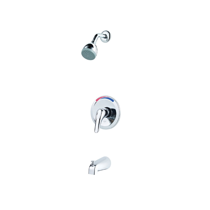 Pfister® G89-0300 Pfirst Series™ Professional Grade Tub and Shower Trim Only, 2 gpm Shower, Polished Chrome