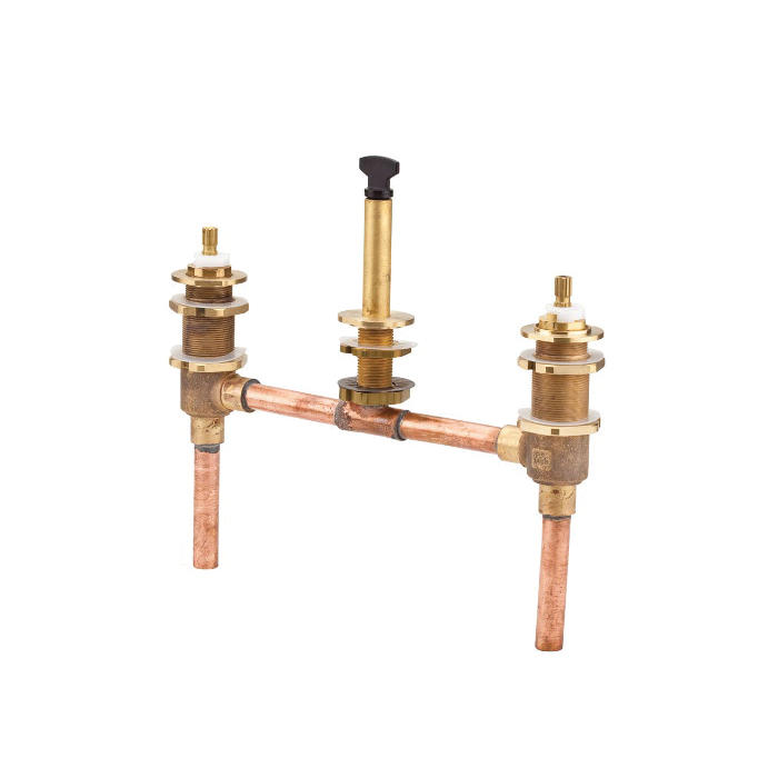 Pfister® JX6-050R Pfirst Series™ Two Handle Universal Roman Tub Valve Only, 1/2 in C Inlet x 1/2 in C Outlet, 60 psi, 15 to 18 gpm, Brass Body