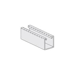 PHD 1012SS-304 Channel, 1-1/8 x 9/16 in Slots, 2 in Spacing, 20 ft L