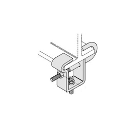 PHD 6350037PL Adjustable Center Load Beam Clamp, 3/8 in Rod, 1/2 in THK, 300 lb Load, Low Carbon Steel, Electro-Galvanized