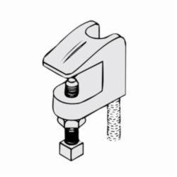 PHD 350 0050PL Import Beam Clamp, 1/2 in Rod, 500 lb Load, Malleable Iron, Plain