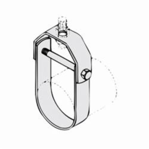 PHD 450 0300PL Standard Clevis Hanger, 3 in Pipe, 1/2 in Rod, 1350 lb Load, Carbon Steel, Plain