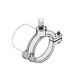 PHD 508R2075PL Extension Split Clamp, 3/4 in Pipe/Tube, 3/8 in Rod, 180 lb Load, Malleable Iron, Plain, Domestic