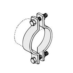 PHD 520 0300PL Standard Pipe Clamp, 3 in Pipe/Tube, 1040 lb Load, Carbon Steel, Plain, Domestic