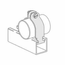 PHD S2430AEG O.D Tube Clamp, 150 lb Load, 4-3/8 in OD, Carbon Steel