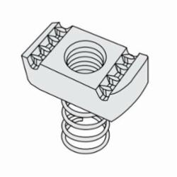PHD S3106 EG Strut Nut With Spring, 3/8 in, Carbon Steel, Domestic
