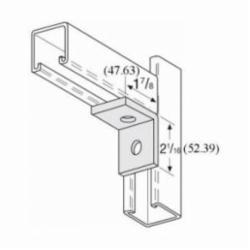 PHD S5112 EG 90 deg Corner Angle, 2 Holes, 2-1/16 in L x 1-7/8 in W, Carbon Steel