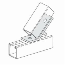 PHD S5315 EG Open Angle Connector, 2 Holes, 45 deg Bend, Carbon Steel