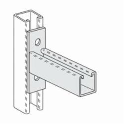 PHD S6132 EG Single Channel Bracket, 12 in L, Carbon Steel