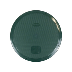 Polylok™ 3008-WEST Heavy Duty Septic Riser Flat Cover With Gasket and Square Drive Screw, 24 in, For Use With 24 in Basins, Risers and Corrugated Pipe, HDPE, Dark Green