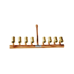 PPP® PM-8 Fluid Distribution Manifold, 8 Outlets, Brass/Copper, Domestic