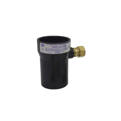 PPP® PPA-2A625 Precision Priming Adapter With 5/8 in Brass Compression Fitting, 2 in, No Hub x Compression, SCH 40/STD, ABS, Domestic