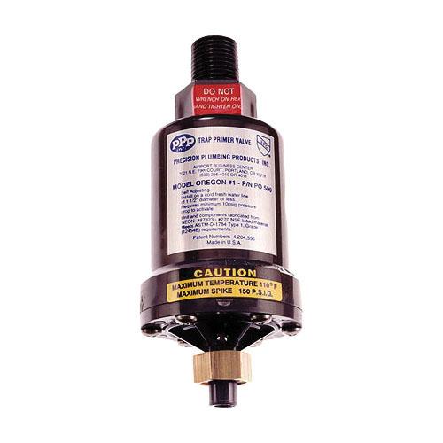PPP® PO-500 Trap Primer Valve, 1/2 in FNPT x 1/2 in MNPT, PVC, Domestic