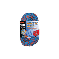 PRIME® ARTIC BLUE™ LT530835 Extension Cord With Primelok® Locking Connector and Primelight® Indicator Light, 15 A 125 VAC 1875 W, SJEOW, 100 ft L Cord, 3 Conductors