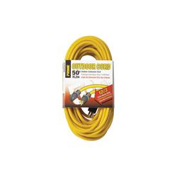 PRIME® EC500830 Jobsite Outdoor Extension Cord, 15 A 125 VAC 1875 W, SJTW, 50 ft L Cord, 3 Conductors