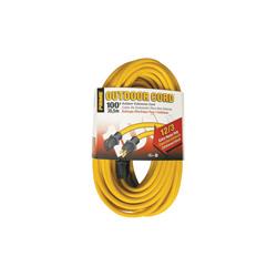 PRIME® EC500835 Jobsite Outdoor Extension Cord, 15 A 125 VAC 1875 W, SJTW, 100 ft L Cord, 3 Conductors