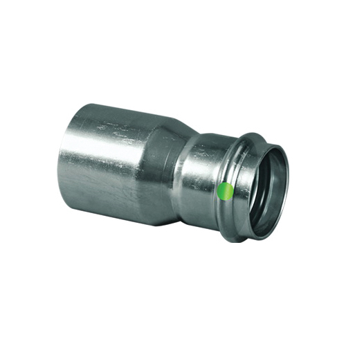 ProPress® 80225 Pipe Reducer, 2 x 1-1/4 in, Fitting x Press, 316 Stainless Steel, Import