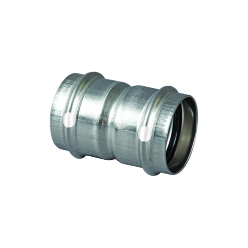 ProPress® 85267 Pipe Coupling With Stop, 1/2 in, Press, 304 Stainless Steel, Import