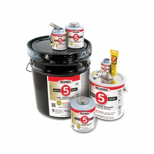 RectorSeal® No. 5® 25551 Premium Multi-Purpose Pipe Thread Sealant, 0.5 pt Can, Paste, Yellow, 1.38