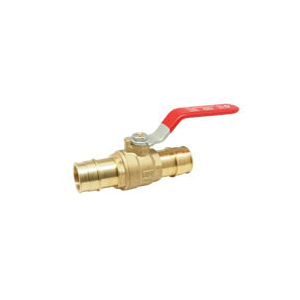 RWV® 5015AB 1/2 Ball Valve, 1/2 in, PEX Barb, 400 lb, Brass Body, Regular Port