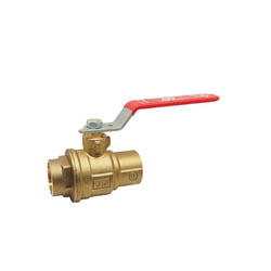 RWV® 5049AB 3/4 2-Piece Ball Valve, 3/4 in, Solder, Forged Brass Body, Full Port