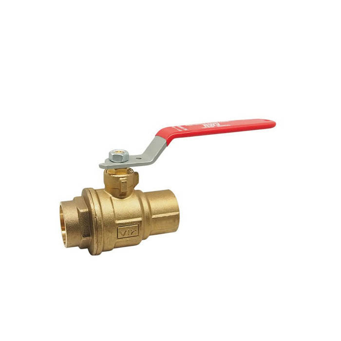 RWV® 5049F 1 2-Piece Standard Ball Valve, 1 in, Solder, Forged Brass Body, Full Port