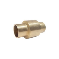 RWV® 233AB 1 In-Line Check Valve, 1 in, Solder, 200 lb WOG, Forged Brass Body, Low Lead Compliance: Yes
