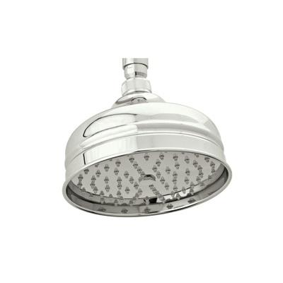 Rohl® 1027/8-PN Bordano Anti-Cal Shower Head, 2 gpm, 1 Spray, Wall Mount, 6-3/16 in Dia x 5 in H Head