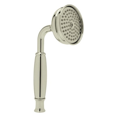 Rohl® 1101/8E-STN Verona/Anti-Cal/Spa Shower Hand Shower, 2 gpm, 1 Spray, 3 in Dia Head, 1/2 in Male