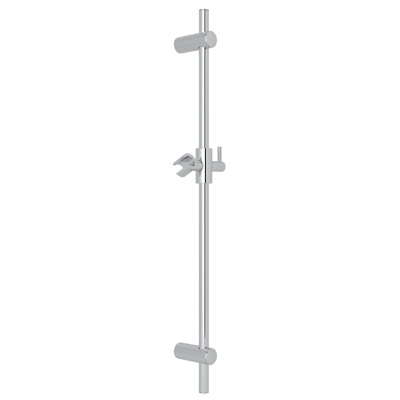 Rohl® 1650-APC Modern/Spa Shower Slide Bar, 29-5/8 in OAL, Brass, Polished Chrome