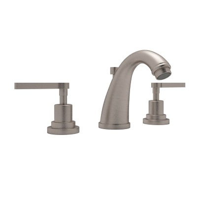 Rohl® A1208LM-STN-2 Transitional Bath Avanti Widespread Lavatory Faucet, 1.2 gpm, 3-45/64 in H Spout, 8 in Center, Satin Nickel, 2 Handles, Pop-Up Drain