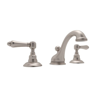 Rohl® A1408LM-STN-2 Country Bath Viaggio Widespread Lavatory Faucet, 1.2 gpm, 3-5/16 in H Spout, 15-3/4 in Center, Satin Nickel, 2 Handles
