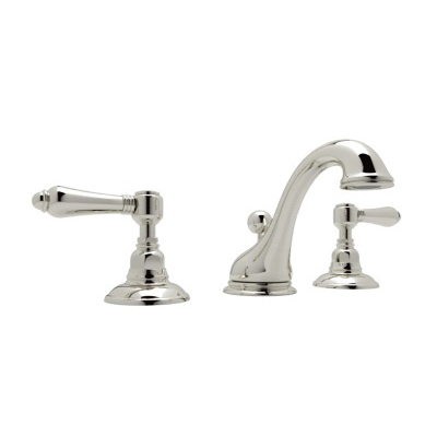 Rohl® A1408LP-PN-2 Country Bath Viaggio Widespread Lavatory Faucet, 1.2 gpm, 3-5/16 in H Spout, 15-3/4 in Center, Polished Nickel, 2 Handles