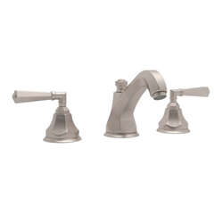 Rohl® A1908LM-STN-2 Transitional Palladian Widespread Lavatory Faucet, 1.2 gpm, 3-11/64 in H Spout, 8 in Center, Satin Nickel, 2 Handles