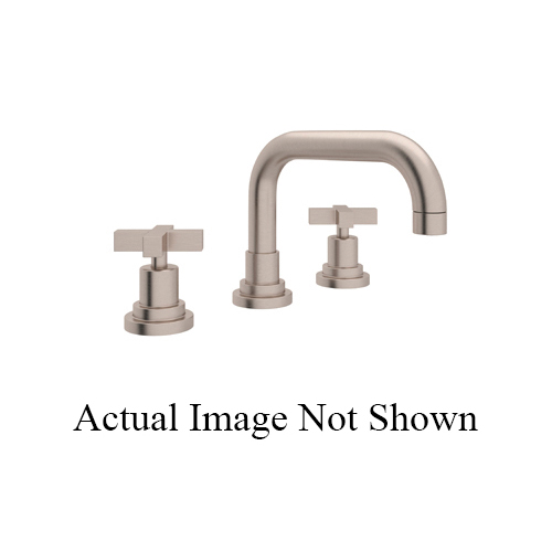 Rohl® A2218LM-STN-2 Modern Bath Lombardia Widespread Lavatory Faucet, 1.2 gpm, 3-1/32 in H Spout, 8 in Center, Satin Nickel, 2 Handles