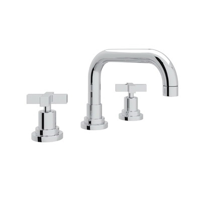 Rohl® A2218XM-APC-2 Modern Bath Lombardia Widespread Lavatory Faucet, 1.2 gpm, 3-1/32 in H Spout, 8 in Center, Polished Chrome, 2 Handles