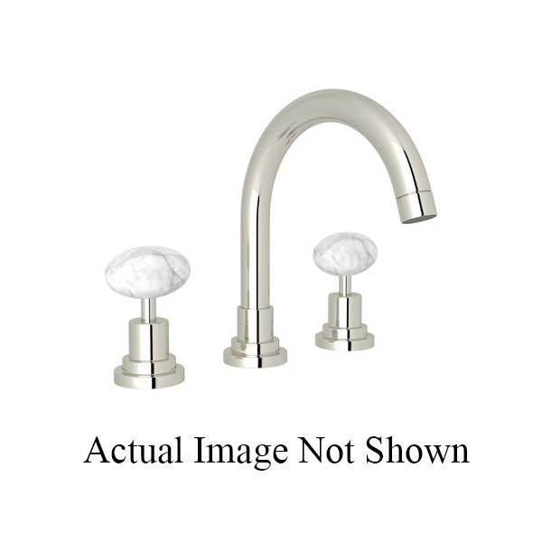 Rohl® A2228LM-PN-2 Modern Bath Lombardia Widespread Lavatory Faucet, 1.2 gpm, 4-61/64 in H Spout, 8 in Center, Polished Nickel, 2 Handles, Pop-Up Drain